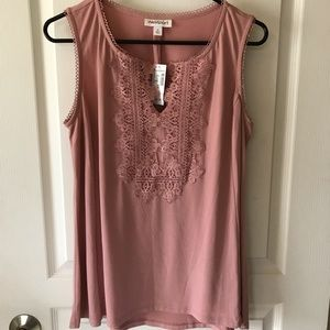 NWT Blush Rose Tank Blouse